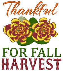 Thankful For Fall Harvest embroidery design