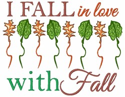 Fall In Love With Fall embroidery design