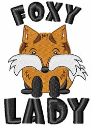 Foxy Lady embroidery design
