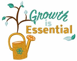 Growth Is Essential embroidery design