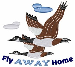 Fly Away Home embroidery design