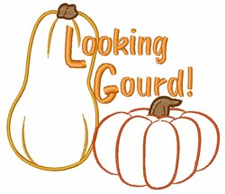 Looking Gourd embroidery design