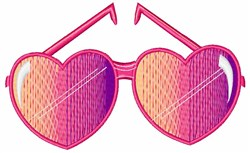 Heart Shades embroidery design