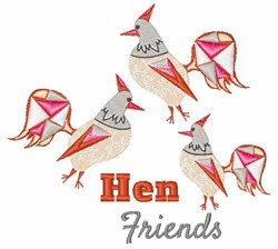 Hen Friends embroidery design