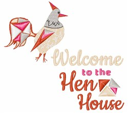 Welcome To The Hen House embroidery design
