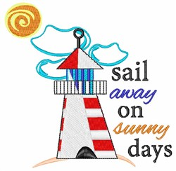 Sail Away On Sunny Days embroidery design