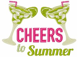 Margarita Cheers To Summer embroidery design