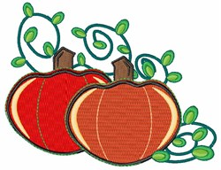 Pumpkin embroidery design