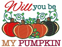 Will You Be My Pumpkin embroidery design