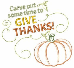 Carve Out Some Time To Give Thanks embroidery design