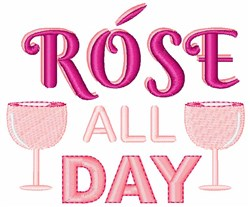 Rose All Day embroidery design