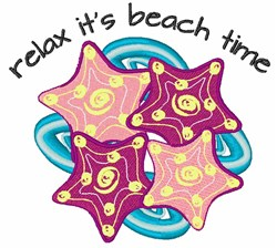 Relax Its Beach Time embroidery design