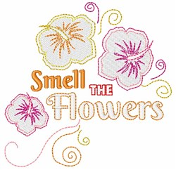 Smell The Flowers embroidery design