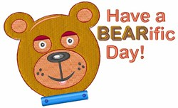 Have A Bearific Day embroidery design