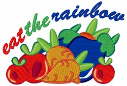 Eat The Rainbow embroidery design