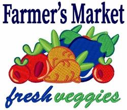 Farmers Market Fresh Veggies embroidery design