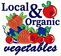 Local & Organic Vegetables embroidery design