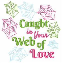 Caught In Your Web Of Life embroidery design