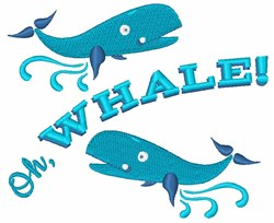 Oh Whale embroidery design