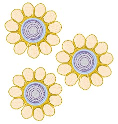 Spring Daisies embroidery design