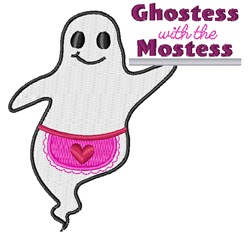 Ghostess With The Mostess embroidery design