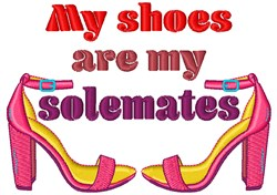 Shoes Are My Shoemates embroidery design