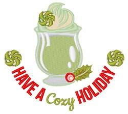 Have A Cozy Holiday embroidery design