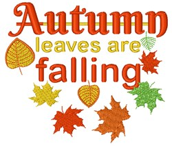 Autumn Leaves Are Falling embroidery design