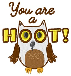 You Are A Hoot! embroidery design