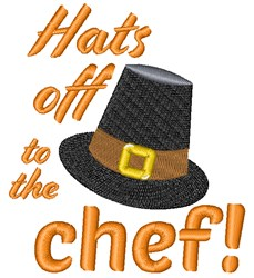 Hats Off To The Chef embroidery design