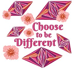 Choose To Be Different embroidery design