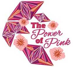 The Power Of Pink embroidery design