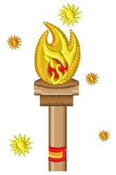Flaming Torch embroidery design