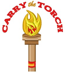 Carry The Torch embroidery design