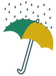 Rainy Day Umbrella embroidery design
