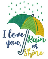 Rain Or Shine embroidery design