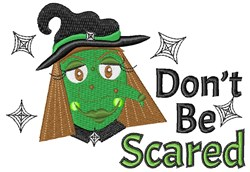 Dont Be Scared embroidery design