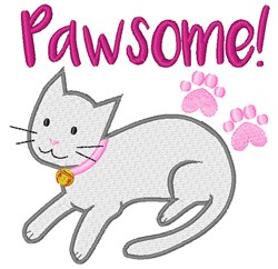 Pawsome! embroidery design