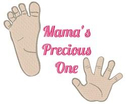Mamas Precious One embroidery design