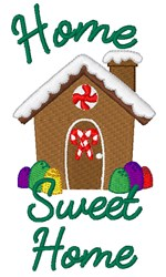 Gingerbread Home Sweet Home embroidery design