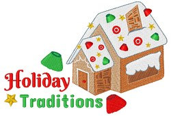Holiday Traditions embroidery design