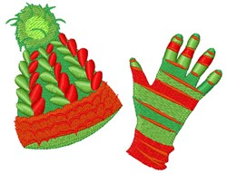 Winter Hat & Gloves embroidery design