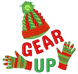 Winter Gear Up embroidery design