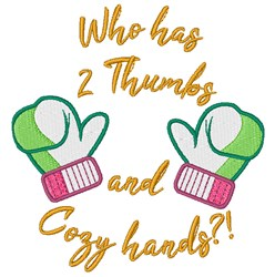 Cozy Hands embroidery design