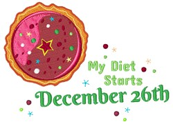 Diet Starts December 26th embroidery design