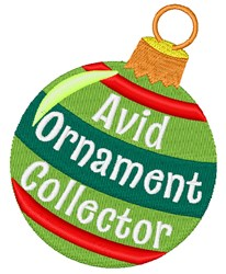 Avid Ornament Collector embroidery design