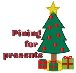 Pining For Presents embroidery design