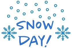 Snow Day! embroidery design