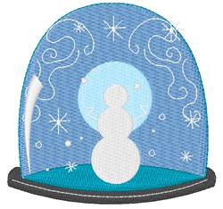 Snowman Snow Globe embroidery design