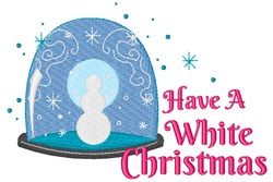 Have A White Christmas embroidery design